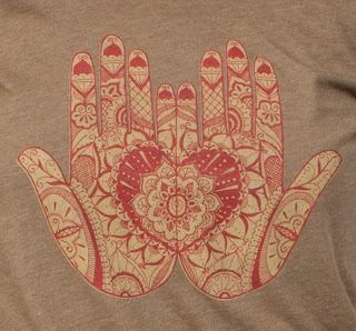 mehndi hands close up - Mehndi Hands Hoody : The Heart Chakra