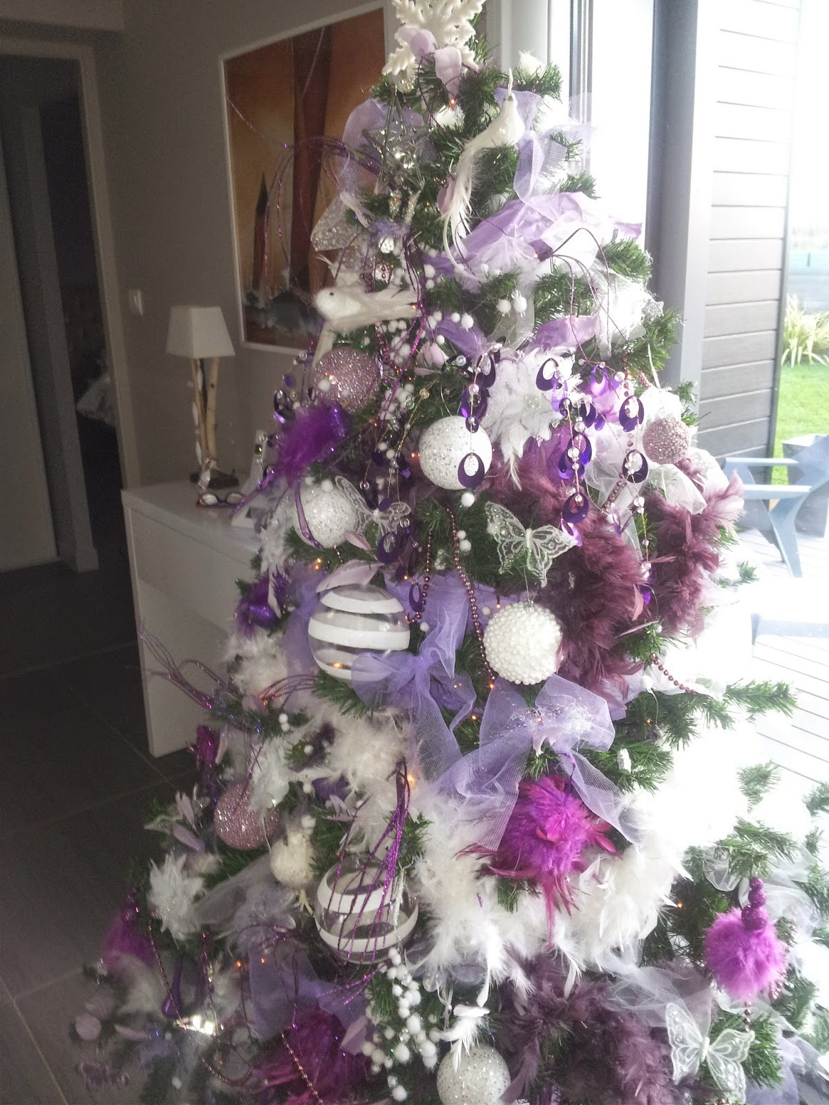 Sapin Blanc Et Gris Decoration