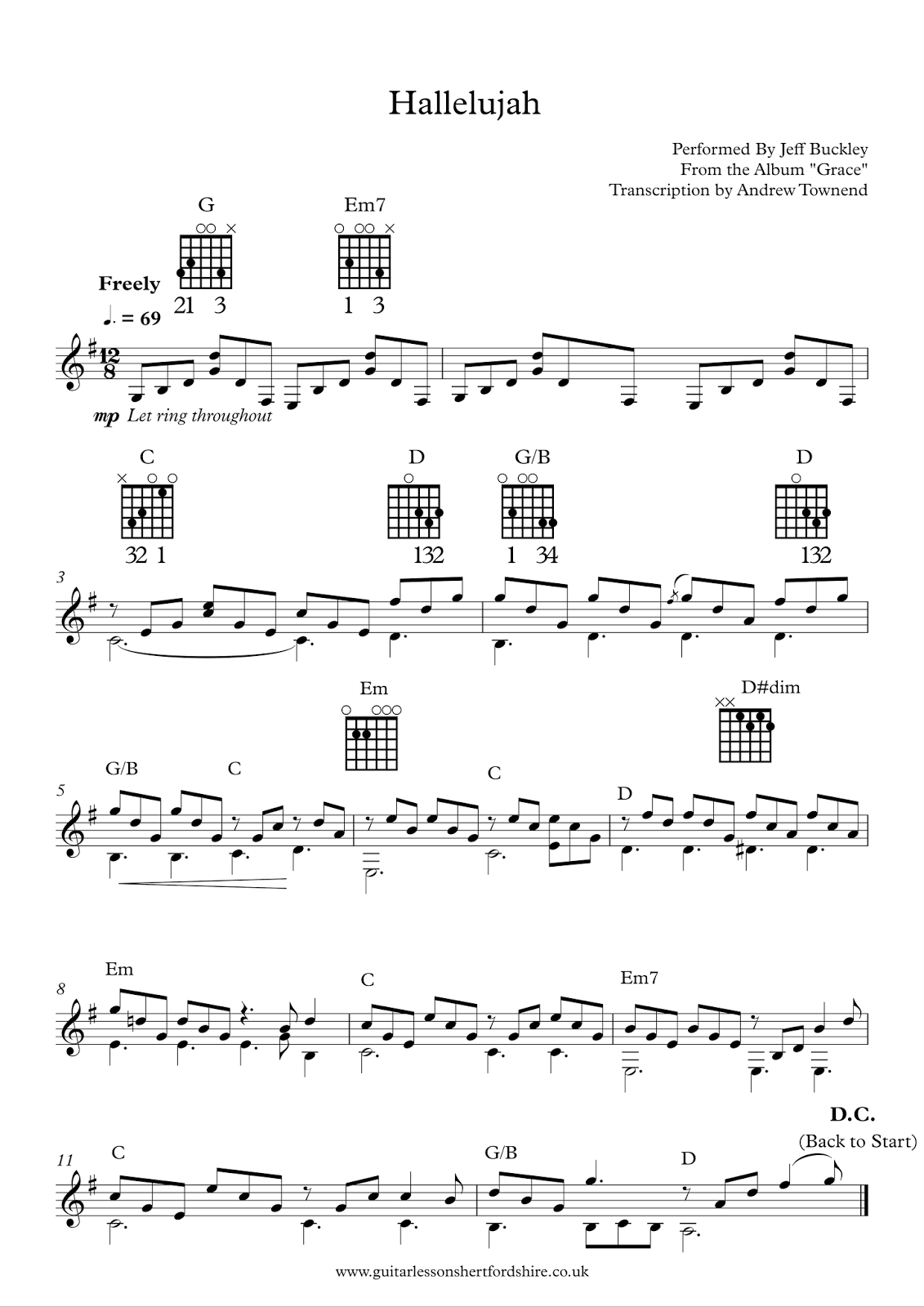 Hallelujah Guitar Chords Gallery Basic Guitar Chords Finger Placement