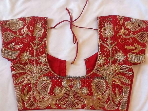 Orange Cut Work Bridal Blouse - Saree Blouse Patterns
