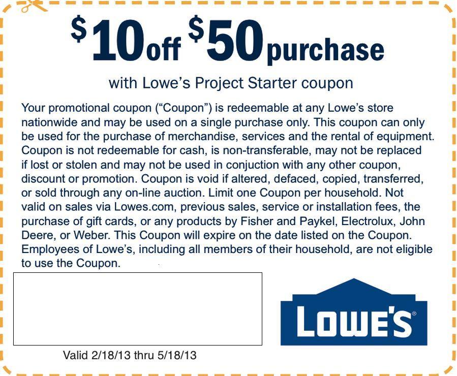 Lowe's Printable Coupons 2013