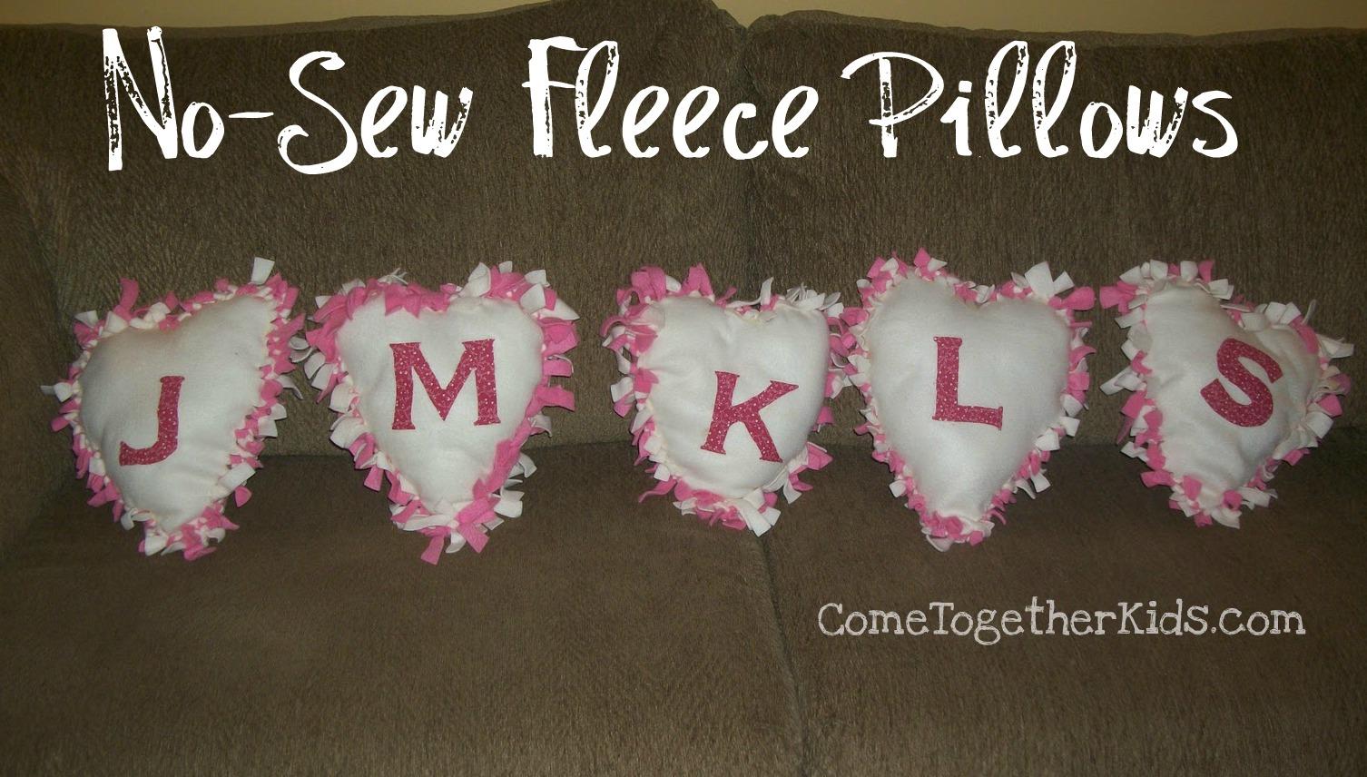 February 14 2011 & Come Together Kids: No Sew Fleece Pillows pillowsntoast.com