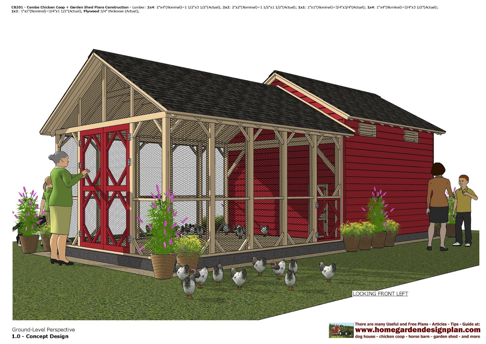 Garden Sheds 3 X 4 home garden plans: cb201 _ combo chicken coop + garden shed plans