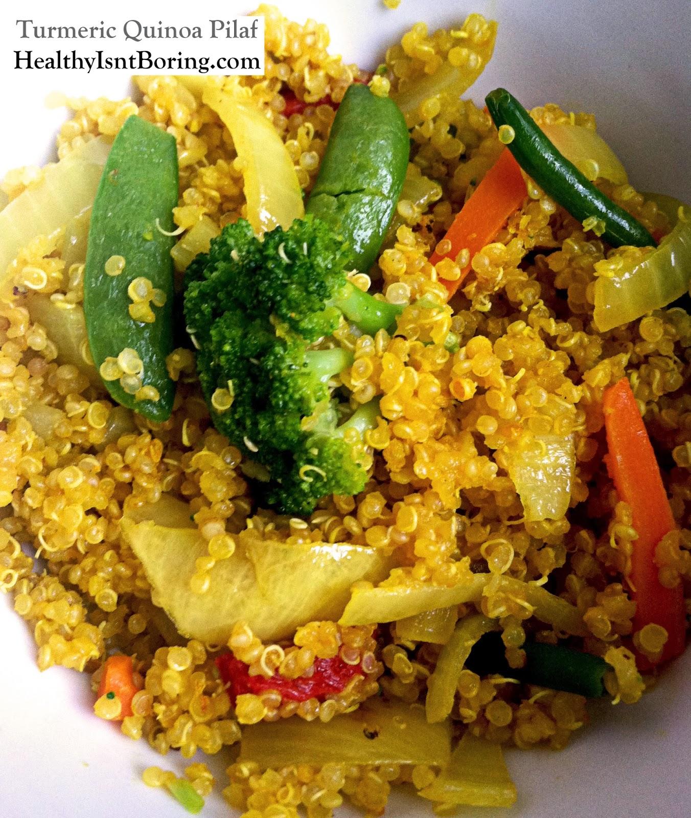 Healthy Isn't Boring: Turmeric Quinoa Pilaf