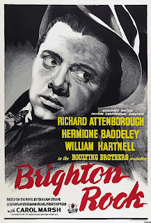 Brighton Rock movie review Harcourt Williams Hermione Baddeley 1947 Richard Attenborough black and white porno slut bitch