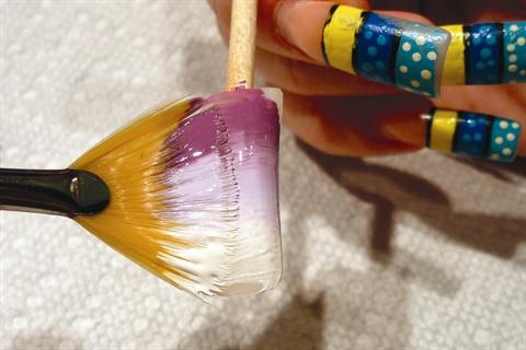 Nail Art Designs Using Fan Brush Hession Hairdressing