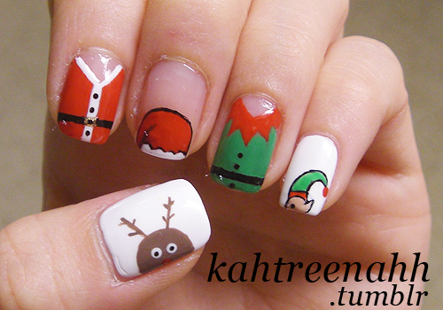 Christmas Design For Short Nails : Todo unhas dise?o de u?as por navidad