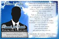 Modelo De Santinho Para Missa De 7   Dia De Falecimento  Totalmente