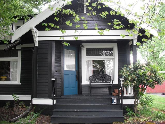 La Maison Boheme Black Cottage White Trim