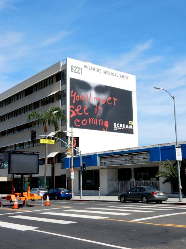 Giant Scream series premiere billboard