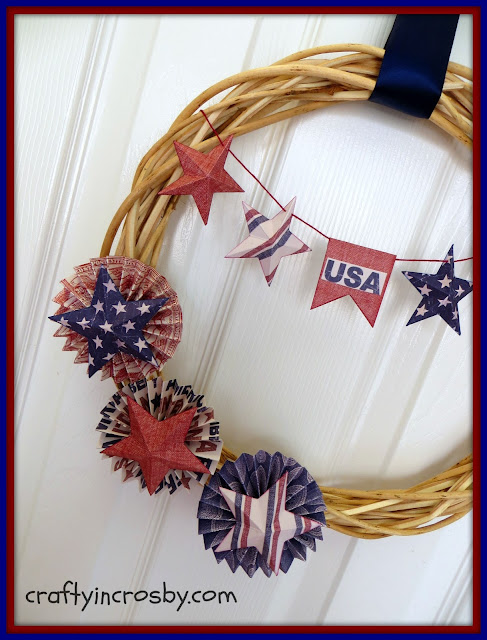 Dollar Tree, July 4th, Fourth of July, Paper Crafts, Stars, USA