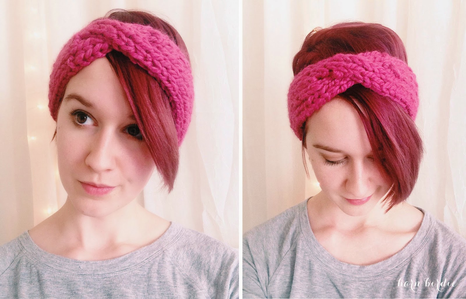 DIY Loom Knit Turban Headband Tutorial
