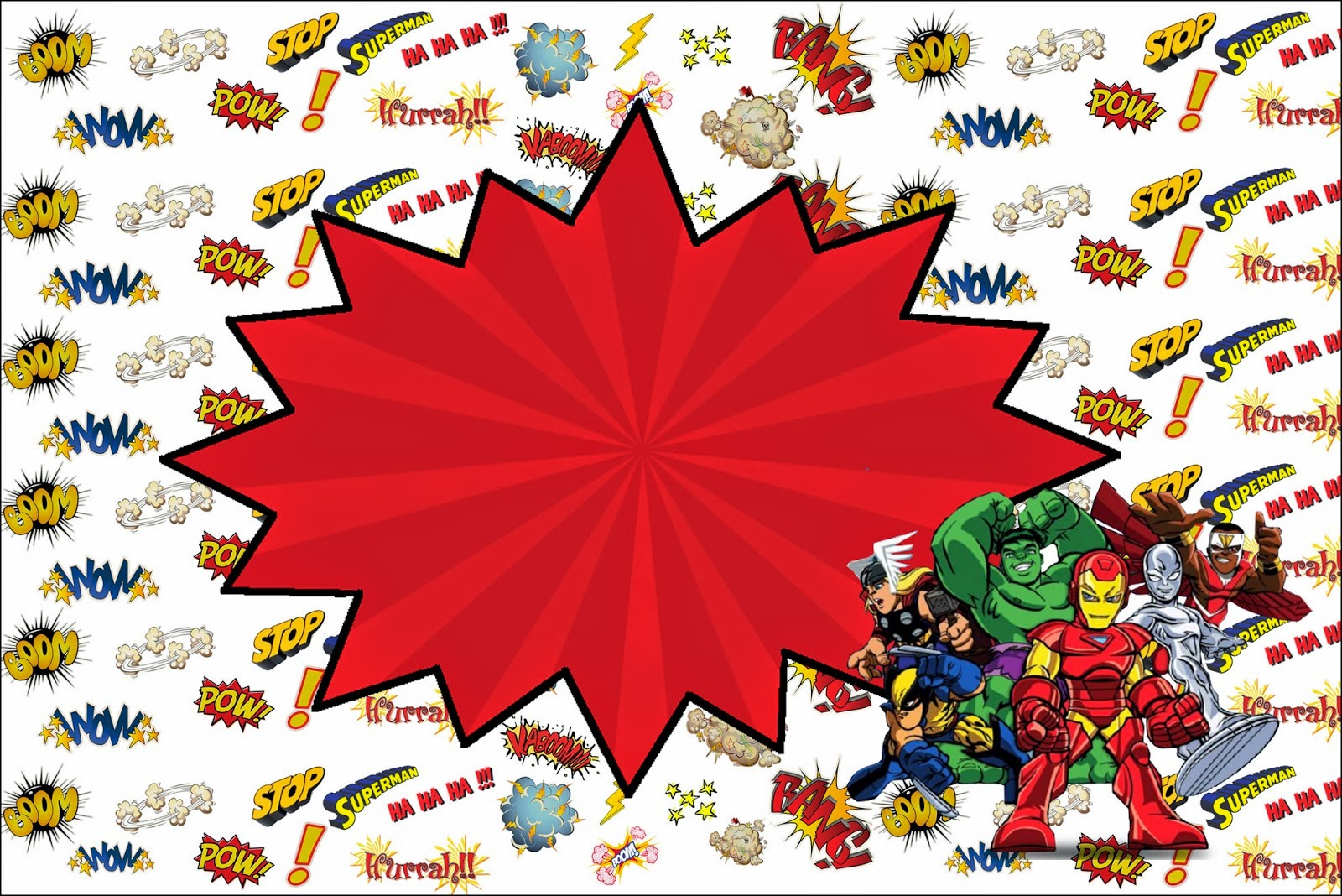 marvel superheroes squad printable invitations is it for this