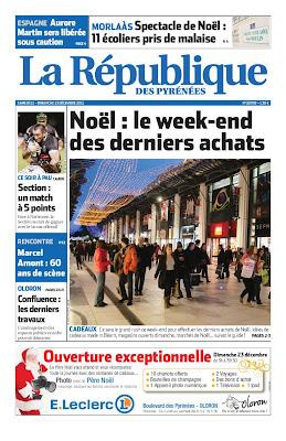 La République des Pyrénées du samedi 22 décembre 2012