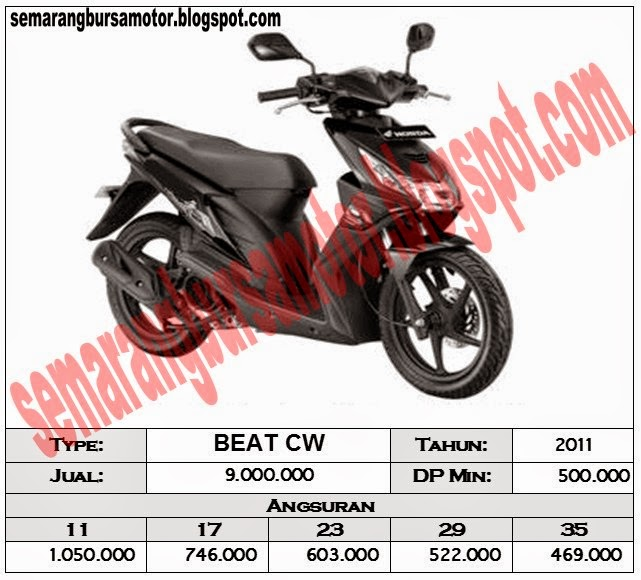 Semarangbursamotor Blogspot Com Daftar Simulasi Kredit Sepeda Motor