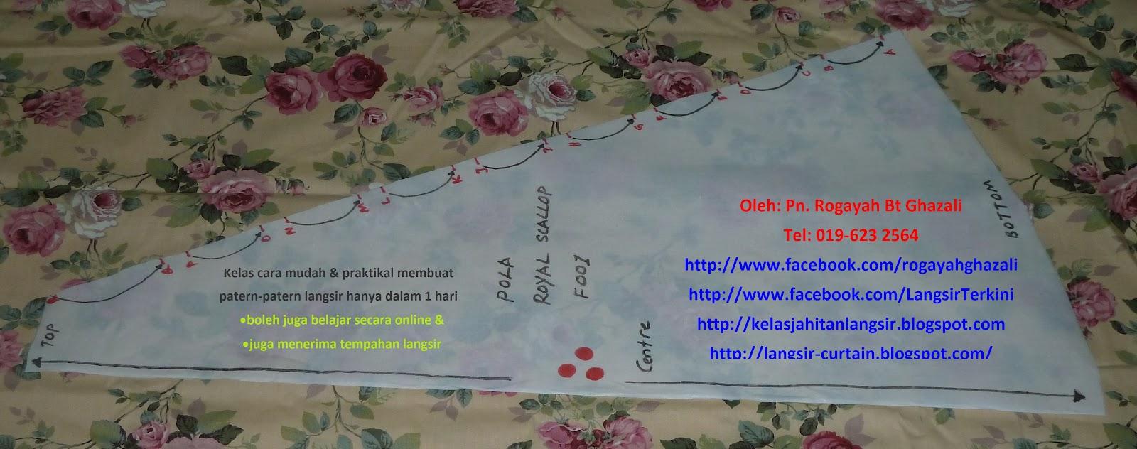 lebih banyak lagi pola, Sila klik di sini Aneka Pola Langsir Terkini