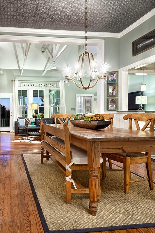 Estilo rustico mesa rustica de madera para comedor for Mesas de comedor rusticas