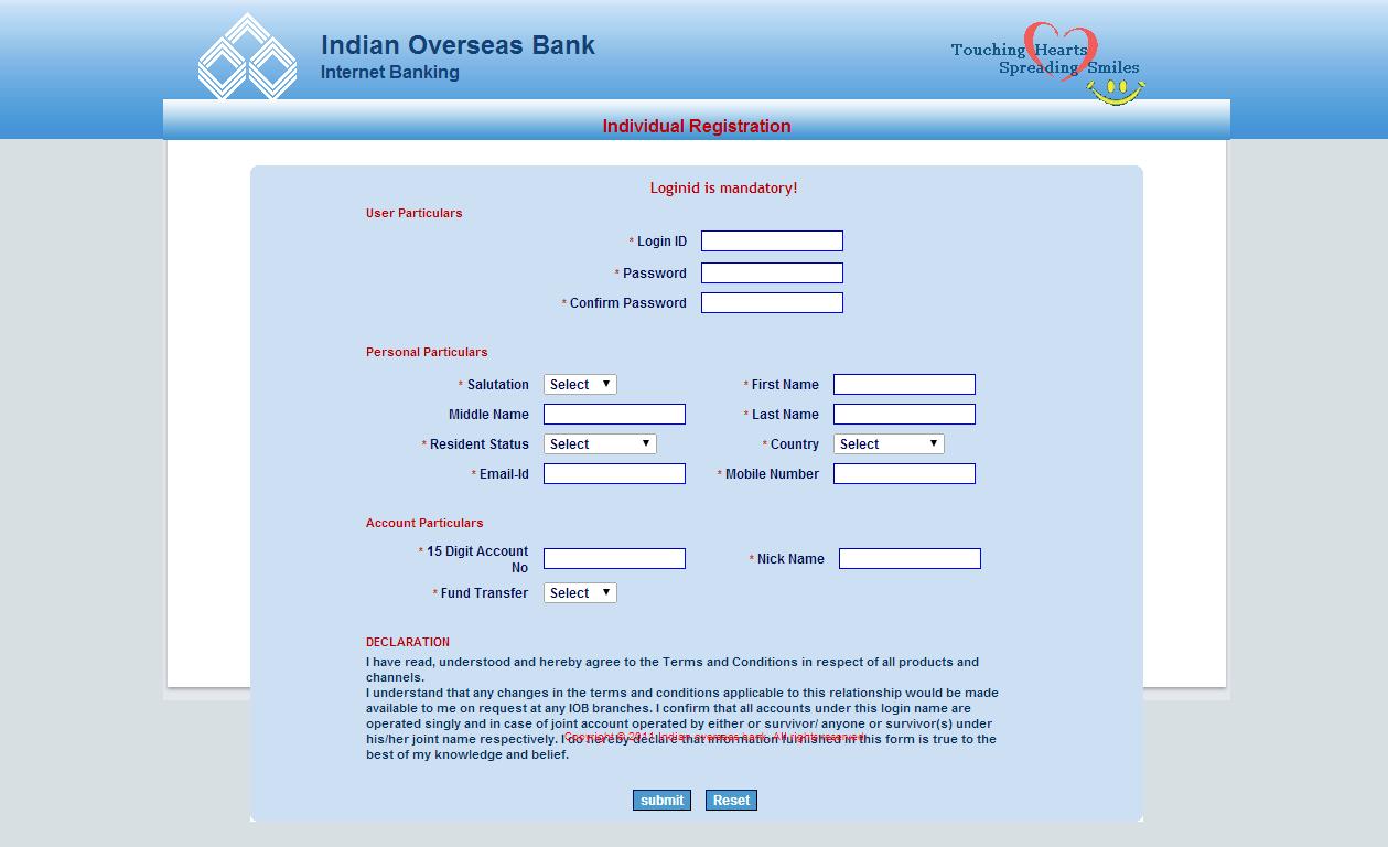 www iob net banking
