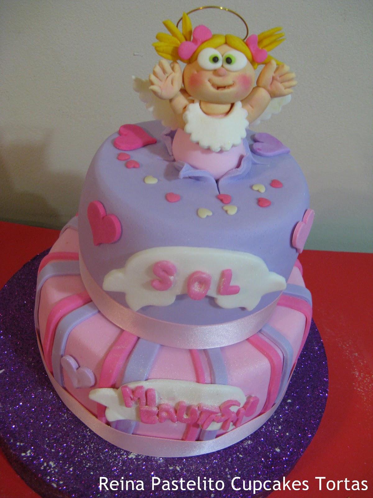 Torta De Bautismo Nena Cupcakes Galletas Decoradas Bautismo