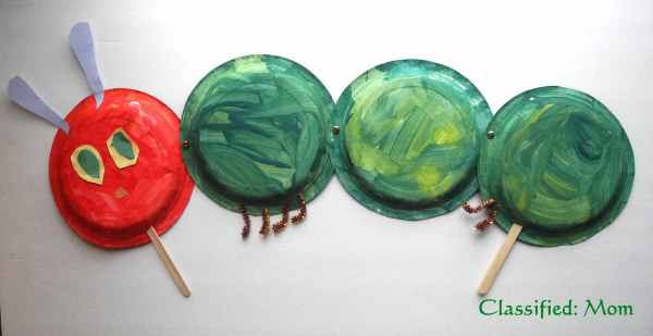 The Very Hungry Caterpillar Paper Plate Puppet Craft