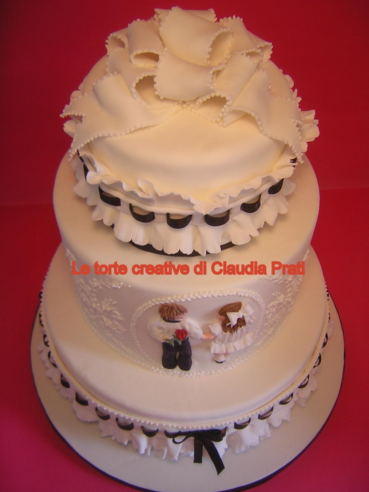 Franchising Cake Design Italia : Le torte creative di Claudia Prati: Wedding cake black and ...