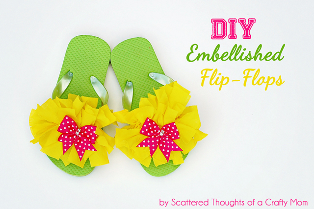 Embelished Flip Flops