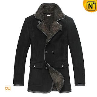 Men Black Fur Coat
