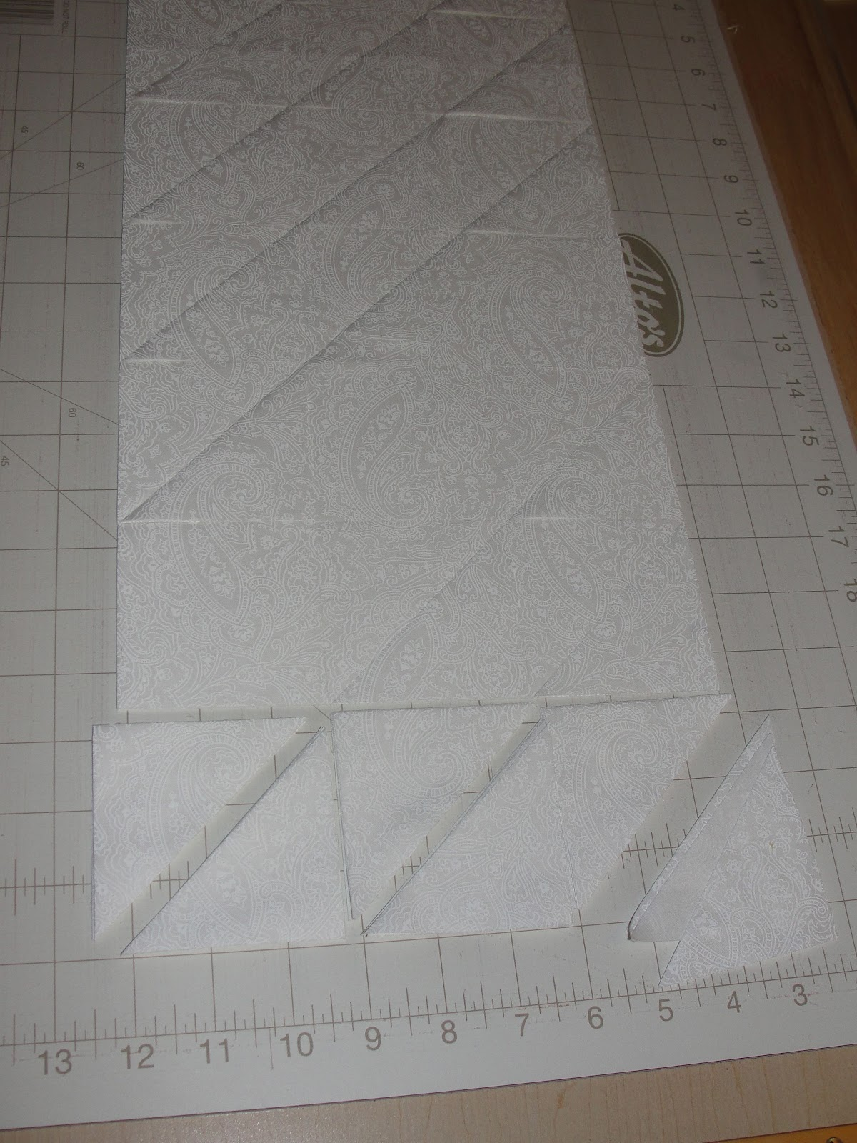 how to cut a 60 angle quilting