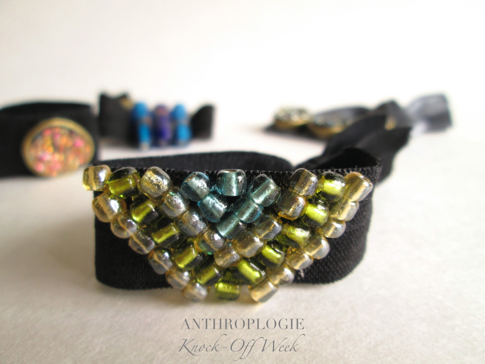 Anthropologie Crystalline Hair Ties DIY
