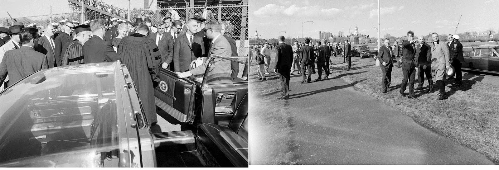4/20/63, Boston, MA: JFK and the bubbletop again!