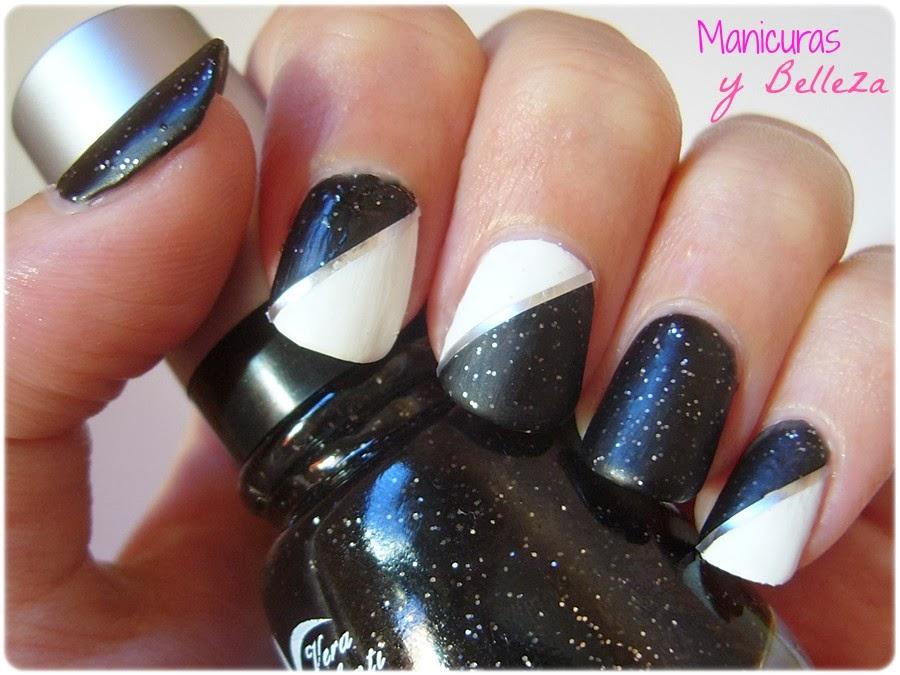 Manicuras y Belleza: Reto Colores: Uñas en blanco y negro | Black ...