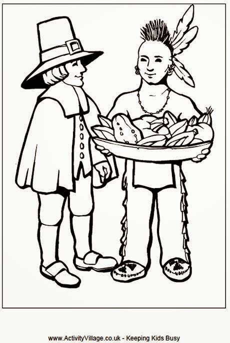 Pilgrim and Native American Thanksgiving templates