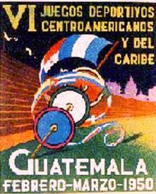 VI Juegos Deportivos Centroamericanos y del Caribe,Guatemala, 1950