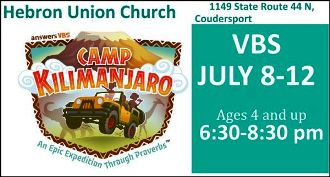 7-8/9/10/11/12 VBS @ Hebron Union Church
