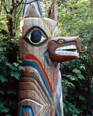 totem, mat, coyote, art amérindien, nord-ouest du Pacifique, déné, autochtone
