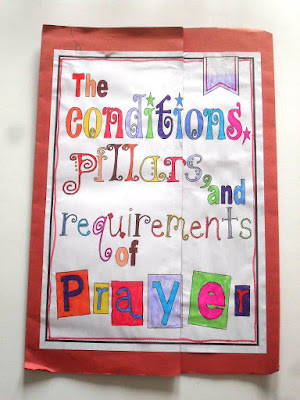 The conditions, pillars and requirements of prayer lapbook printable