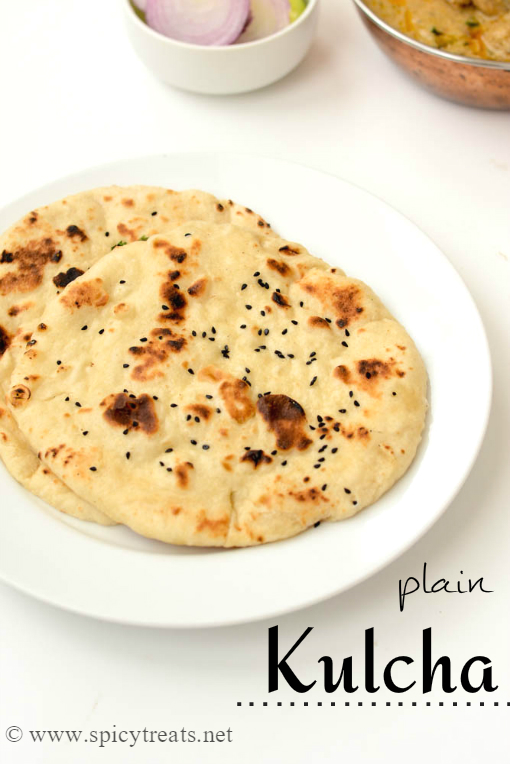 Kulcha Recipe | How To Make Plain Kulcha Recipe | Kulcha Recipe – Stove Top Method | Easy Kulcha Recipe In 2 Ways