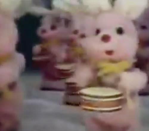 Campanha das Pilhas Duracell nos anos 80 com seu famoso mascote.
