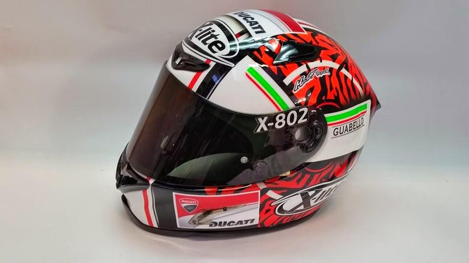 racing helmets garage x lite x 802r f battaini 2015 by. Black Bedroom Furniture Sets. Home Design Ideas