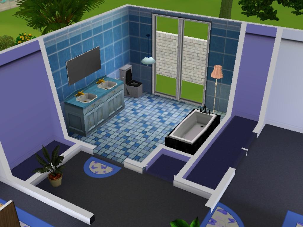 Dan kamar mandinya. & Umu Humairo\u0027s World: Desain Rumah The Sims 3 - House 1