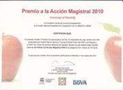 PREMIO A LA ACCIÓN MAGISTRAL CURSO 2010