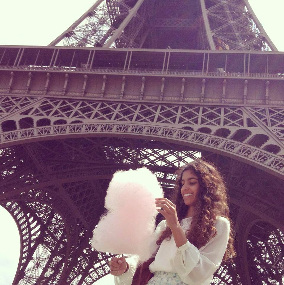 eiffel tower fairy floss paris france europe