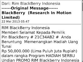 penipuan mengatas namakan RIM indonesisa