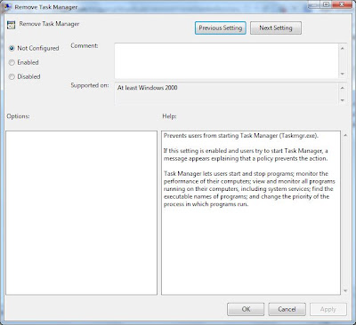 Enable/Disable Task Manager using gpedit.msc detailed