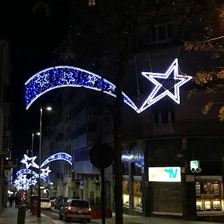 Iluminación navideña: estrellas de Belén