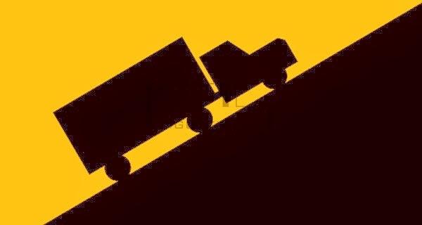Xe tải chở hàng lên dốc