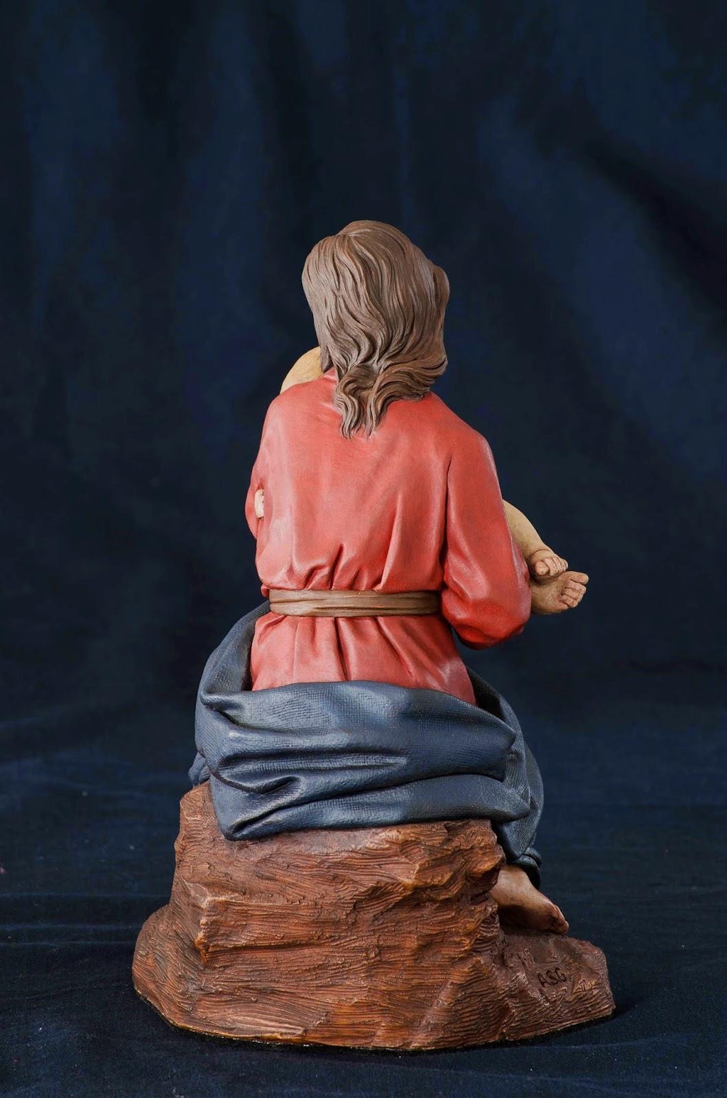 Nacimiento Belén Nativity presepe krippe Arturo Serra Barro cocido 28