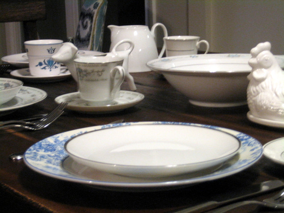 Mix and match china pieces still look great together!