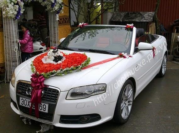 Cho thuê xe cưới Audi A4 - xe cưới mui trần tại Hà Nội 1