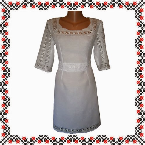 Вишиванка весільна сукня мережка